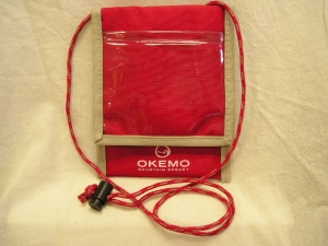 Okemo logo neck wallet